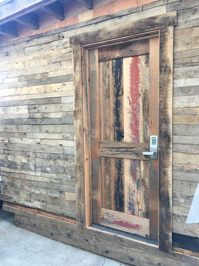 Modern Security On Reclaimed Door